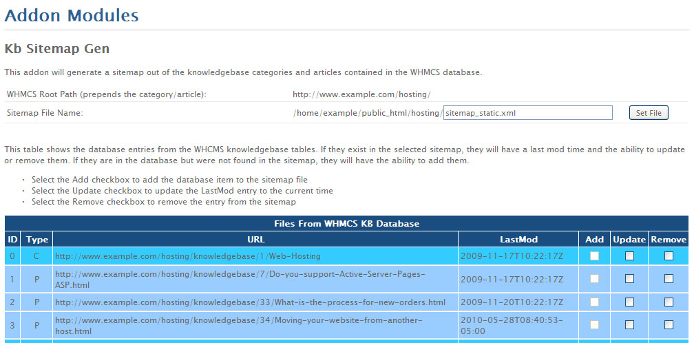 automatically creating whmcs knowledgebase sitemaps coyne